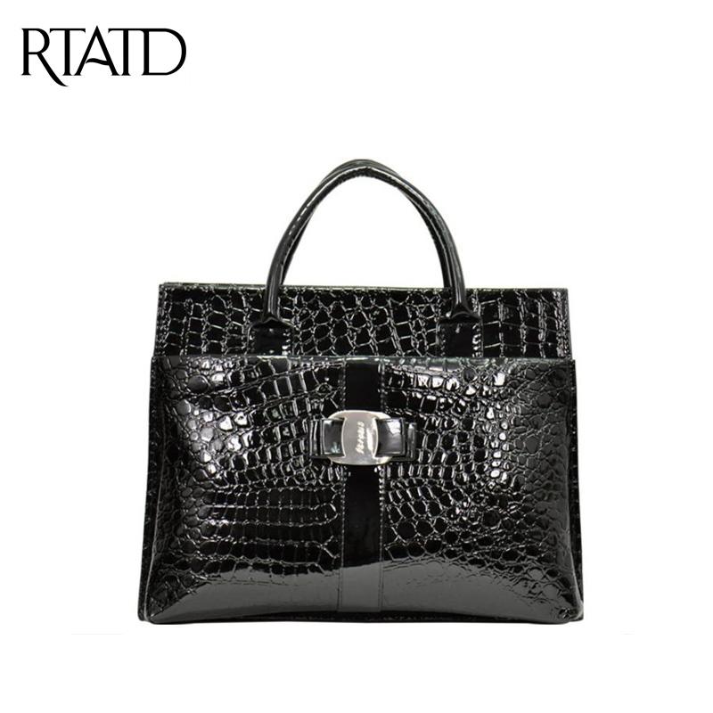 Hot 2016 Women Luxury Tote Bag Designer Crocodile High Quality PU Leather Handbags Ladies Female Business Shoulder Bags QF001(China (Mainland))