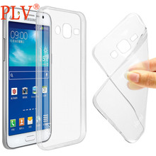 Free shipping 0.6mm Transparent Clear Ultra Thin Soft TPU Phone Case For Samsung Galaxy J1 J5 J7 alpha Grand Prime