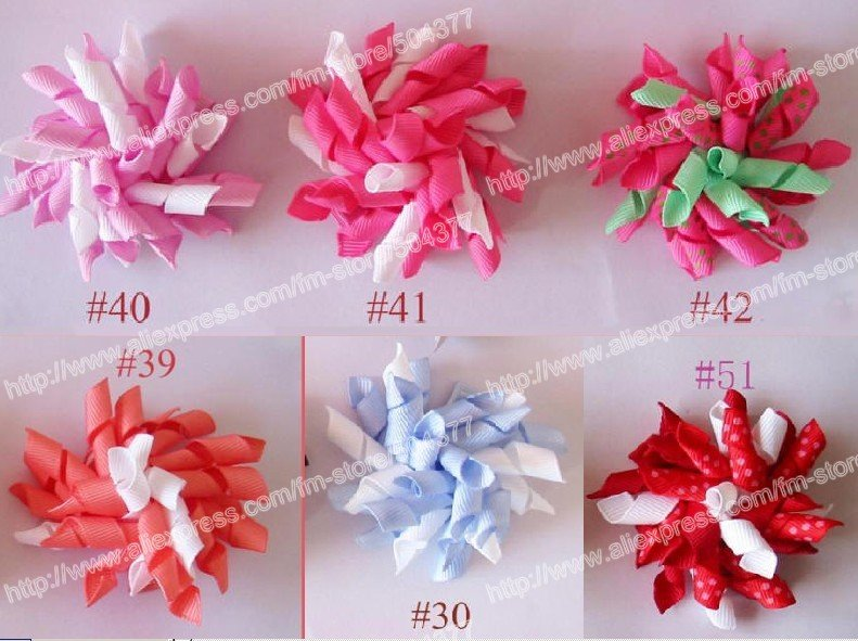 free shipping 500pcs korker hair bows to mix color fashion baby hair bow corker hair bows fashion korker clips(China (Mainland))