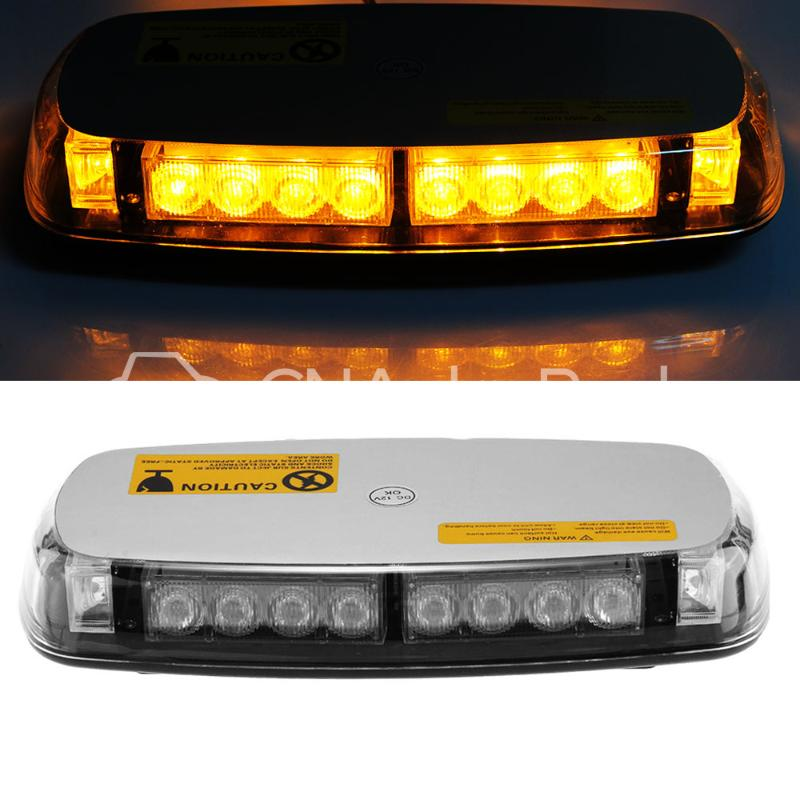 CARCHET Vehicle Car Roof Lights 20W Top Yellow 24 LED Emergency Warning Strobe Light Lamp Magnetic Base - CN Auto Parts store