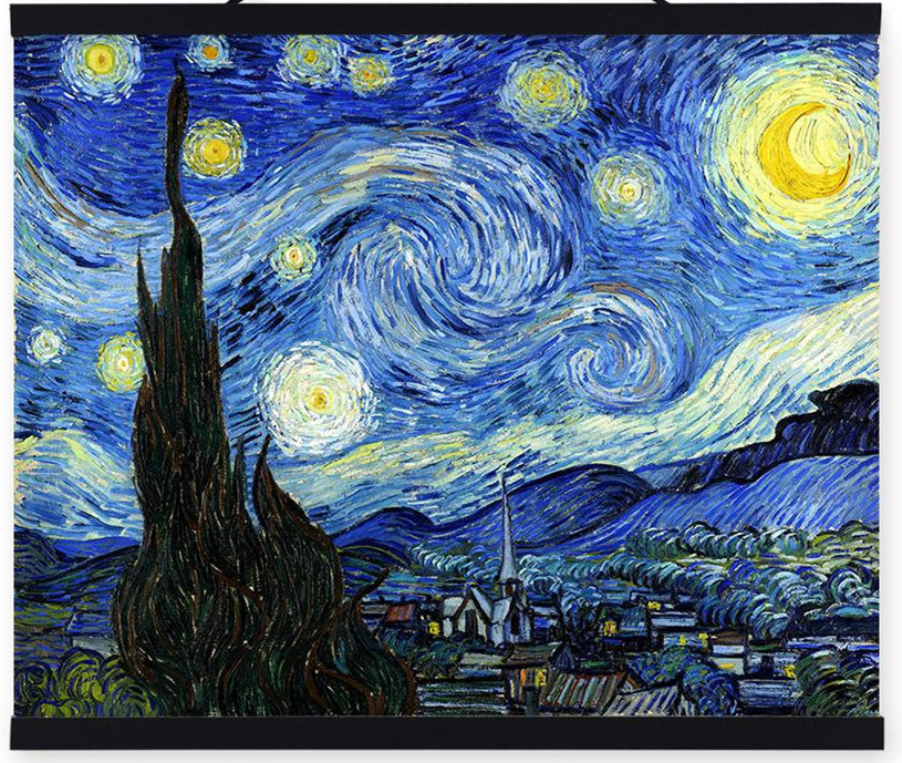 Original Quality Famous Vincent Van Gogh Oil Painting Reproductions on Canvas - Starry Night Impressionist Wall Pictures(China (Mainland))