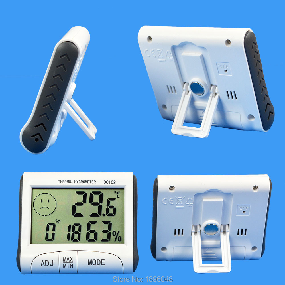 Thermometer Hygrometer Temperature Humidity Meter Clock Electronic 2016 New LCD Digital Temperature Tester Wireless Magnetic(China (Mainland))