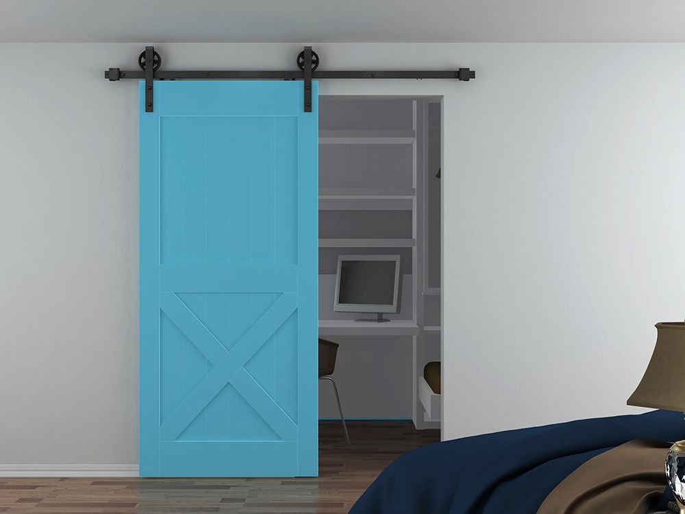 Compare prices on sliding barn doors interior online for Oversized barn doors