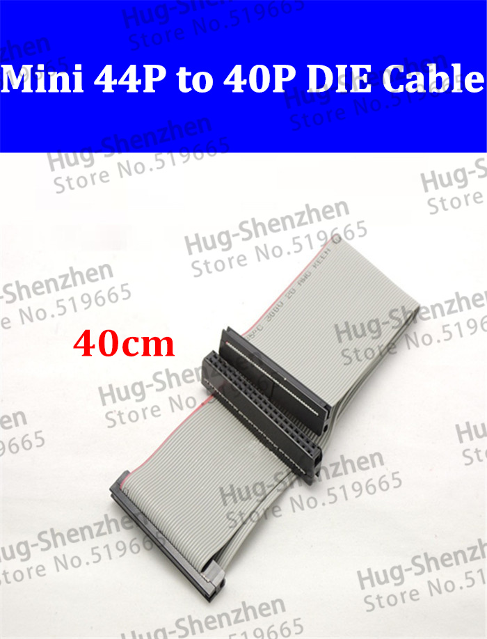 Wholesale 10pcs hard disk 2.5 to 3.5 adapter cable mini 44pin to 40pin IDE cable laptop IDE to IDE date cable for laptop desktop(China (Mainland))