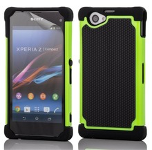For Sony Z1 Compact Case Hybrid Hard Armor Case For Sony Xperia Z1 Compact D5503 Heavy Duty Hard Cover Rubber Case(China (Mainland))