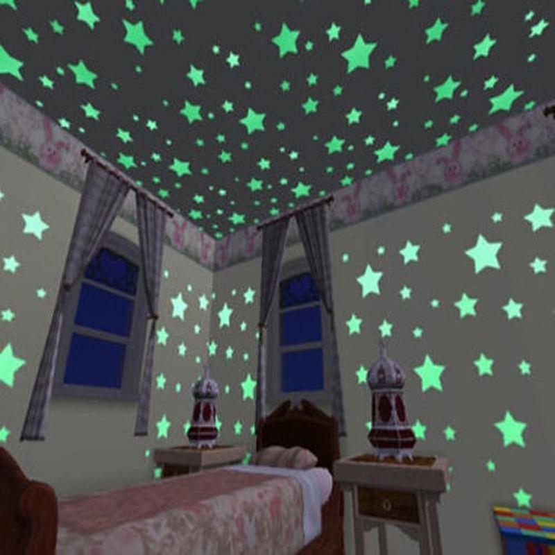 100Pcs-3D-Glow-Stickers-Luminous-stars-Baby-Bedroom-Beautiful-Fluorescent-In-The-Dark-Toy--Festival-TD0056 (4)