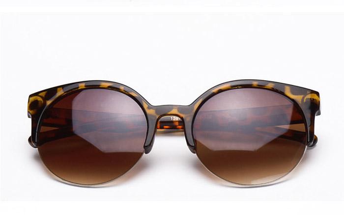 2015 Fashion Vintage Sunglasses Retro Cat Eye Semi-Rim Round