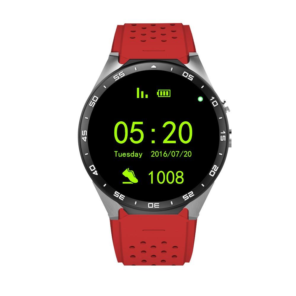 В наличии! Kingwear KW88 android 5.1 Смарт смотреть 1.39 дюймов 400*400 SmartWatch телефон 3 Г wi-fi 2.0MP Камера Сердечного ритма pk d6 x5 d5