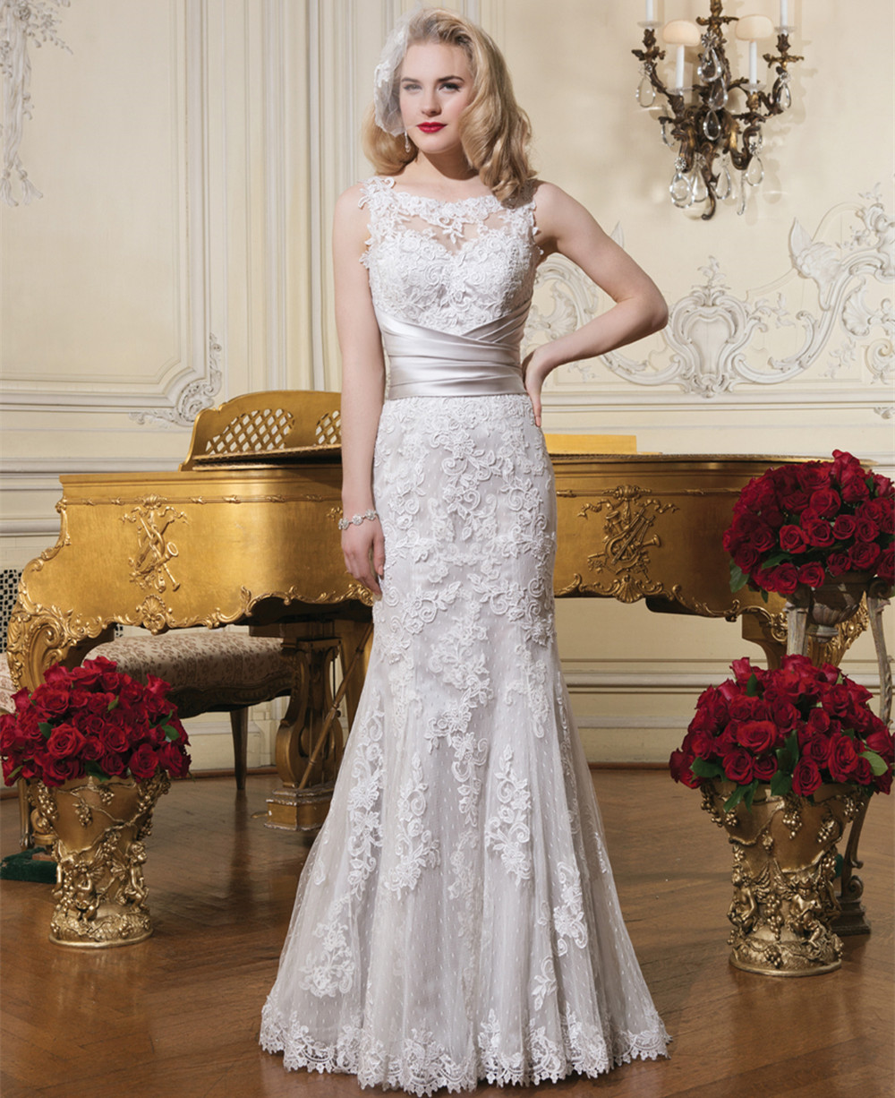 White ivory sexy cheap wedding dress with long train 2015 for Cheap ivory wedding dresses