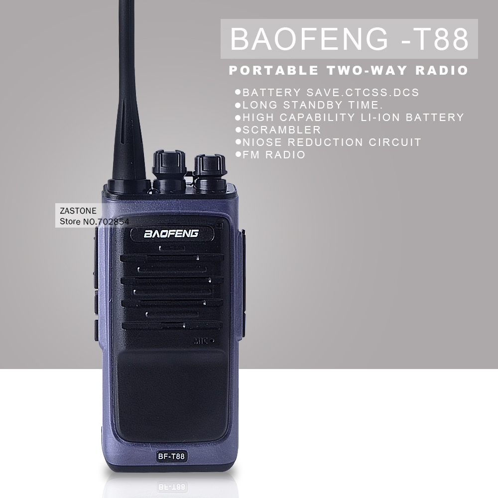 Walkie Talkie baofeng T88 UHF 400-480MHz 8W VOX FM Radio Monitor Scan Two Way Radio Professional Transceiver(China (Mainland))