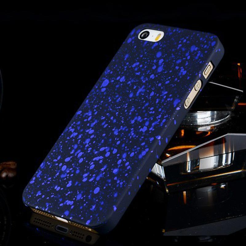 Spots Design Luminous Glow in The Dark Phone Shell Skin Case For Apple iPhone 5S 5 Cover For iPhone 5 iPhone 5S(China (Mainland))
