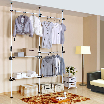 Simple wardrobe cloth wardrobes Large combination storage cabinet steel frame commoners kitchen cabinets furniture