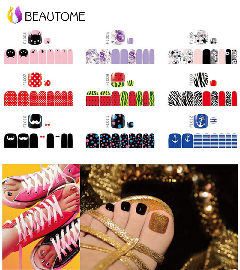 2016 New Fashion Sex Product Toe Nail Art Foil Stickers Nail Foils DIY Nails Toes Decals Manicure Adhesive Decal Nail Wraps(China (Mainland))