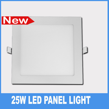 ultra thin 25W Square leds panel lighting white  flat recessed bedroom ceiling panel lamp