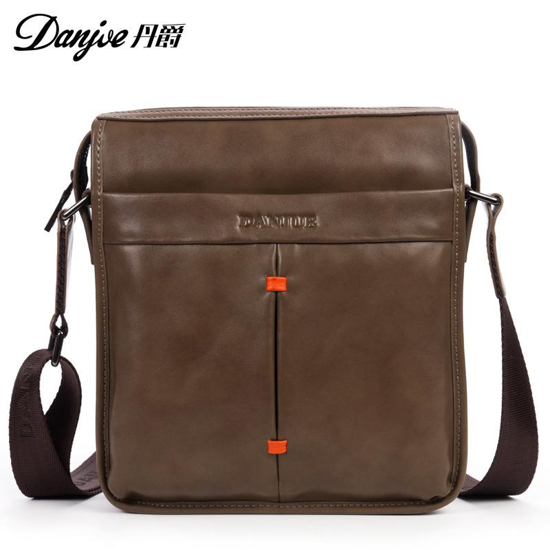 Genuine cowhide Leather Shoulder leisure handbag men's zipper bags business messenger briefcase Laptop Casual Man Purse