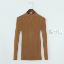 WAIBO BEAR New 2016 Cashmere Sweater Women Spring Cashmere Pullovers Long Sleeve half turtleneck sweater Slim Knitwear Jumper(China (Mainland))
