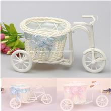 PE storage rattan wicker tricycle artificial flowers wedding decoration living room dining table vase  Type 4 choose(China (Mainland))