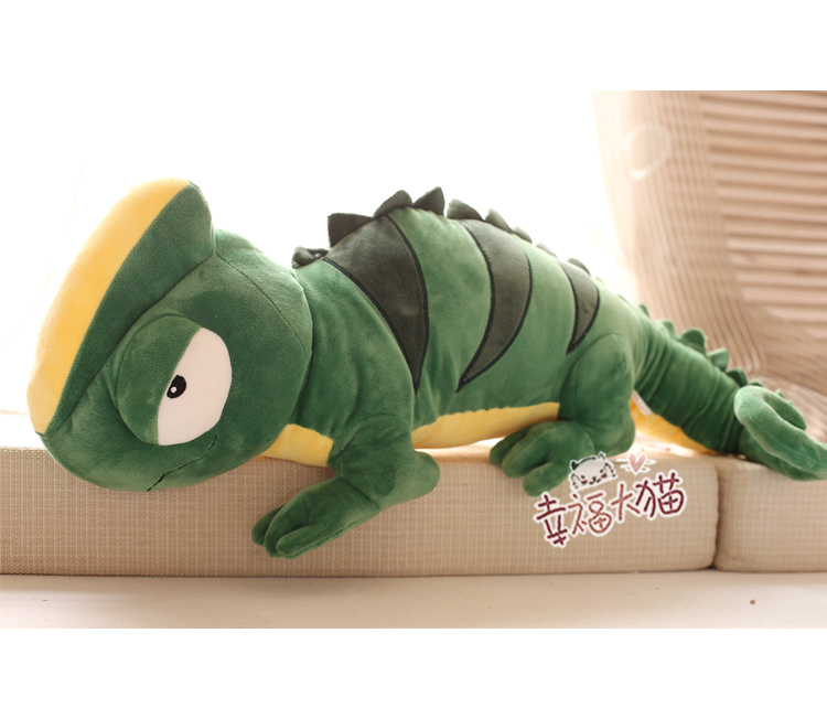 Big Cute Design Giant Green Chameleon Stuffed Soft Animal Plush Toy Tortoise Doll 100cm Piece(China (Mainland))