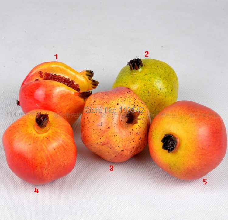 Free shipping high artificial fruit fake vegetables model for Artificial pomegranate decoration