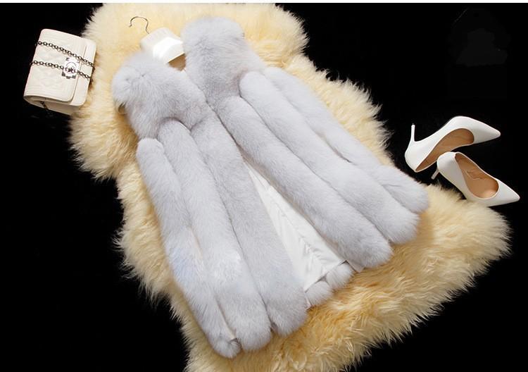 2016 Fashion Genuine Real Whole-hide Fox Fur Vest Waistcoat  Winter Women Fur Gilet Outerwear Coats Lady Clothing VK2258
