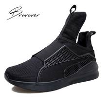 Fashion Spring Autumn Men Trainers Casual Mesh Air Men Zapatillas Hombre Y3 Shoes Casual Flats Shoes RIHANNA Creeperd Plus Size