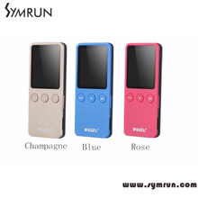 Symrun 2016 Latest 1.8 MP3 Player Ultrathin 8GB Hifi Lossless 200 Hours with FM clock Mini MP3 Player Module