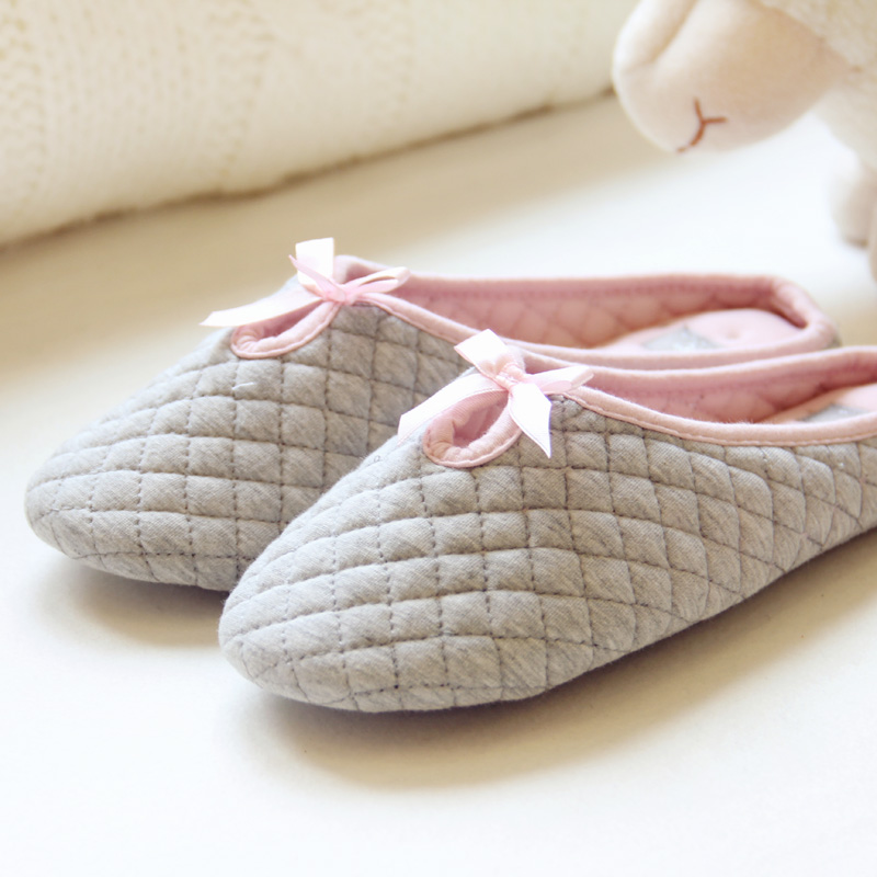 2015 ballet style indoor slippers home floor cotton soft bottom shoes breathable and comfortable shoes home office<br><br>Aliexpress