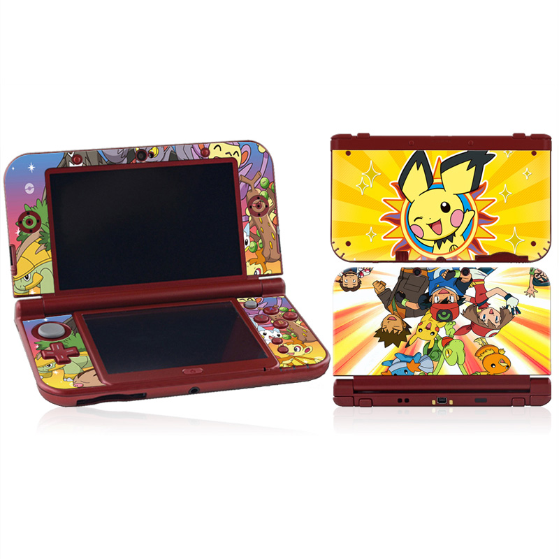Pokemon Pikachu 0324 Vinyl Cover Decal Skin Sticker for Nintendo 3DS XL LL Console Skins(China (Mainland))