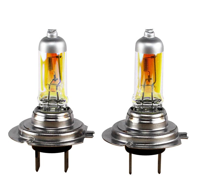 Xencn h7 12v 55w 2300k golden super yellow light bulbs car for Mercedes benz low beam bulb