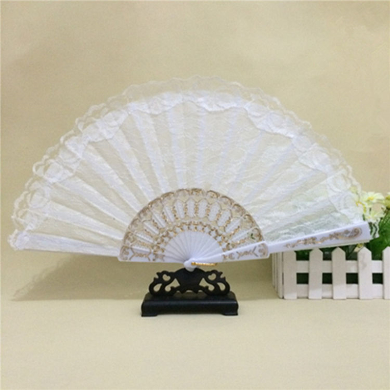 Spain Leques Ladies Folding Lace Hand Fans,Wholesale Personalized Fan Of Old Wedding Decoration Abanicos Para Boda Vintage FAN11(China (Mainland))