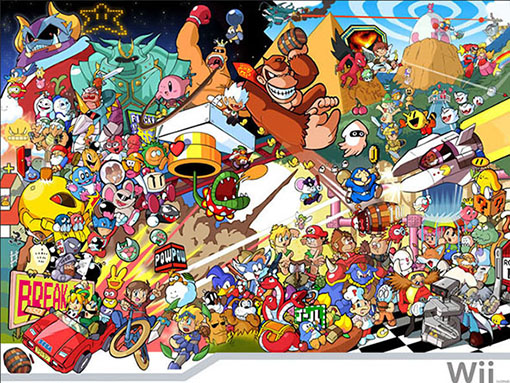 Characters Nintendo Wii Art Huge Print Poster TXHOME D7440(China (Mainland))