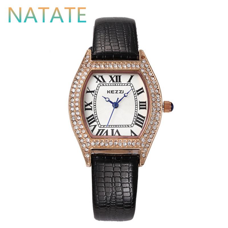 NATATE Women Rhinestone Leisure Wristwatches Fashion Trend Watch Kezzi Brand Waterproof Ladies Quartz Leather Strap Watches 1040<br><br>Aliexpress