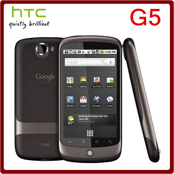G5 Original Unlocked HTC Google Nexus One G5 5MP 1400mAh 3.7Inch Touchscreen Refurbished Mobile Phone Free Shipping(China (Mainland))