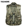 Chaleco Hombre Camo Mesh Multi Pockets Camo Fish Hunt Vest Shooting Waistcoat Esporte Sleeveless Jacket mesh