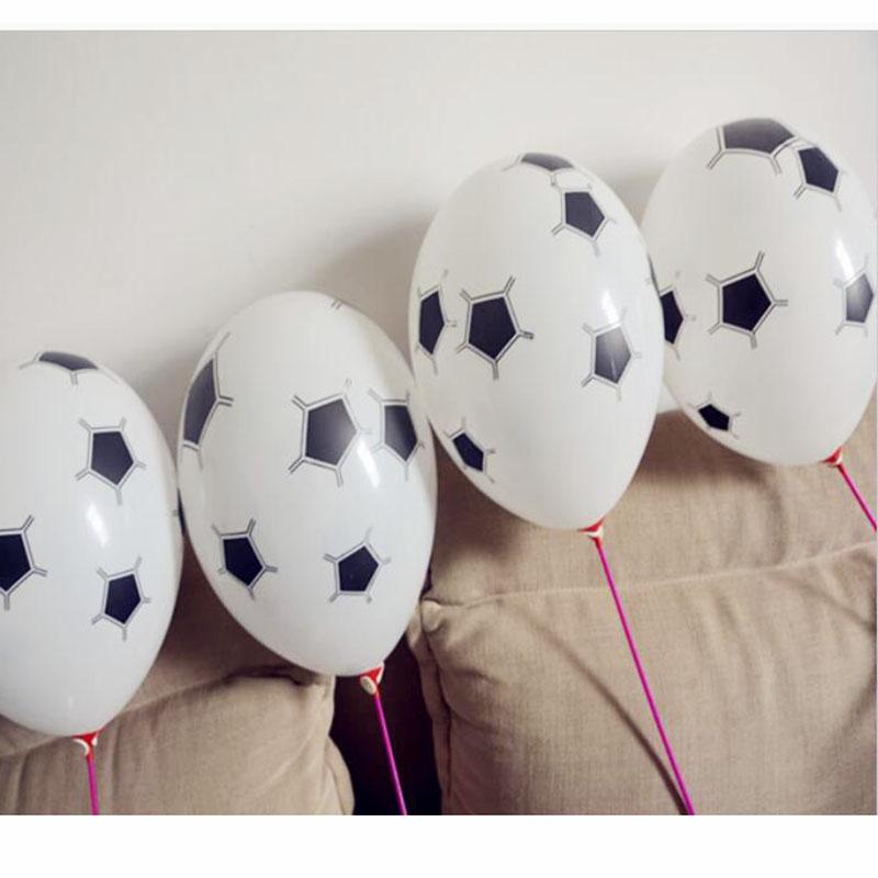 100pcs Football/Soccer Printed Latex Balloons Children Boy Happy Birthday Decoration Party Supplies Inflatable Balls Kid Toys 37(China (Mainland))