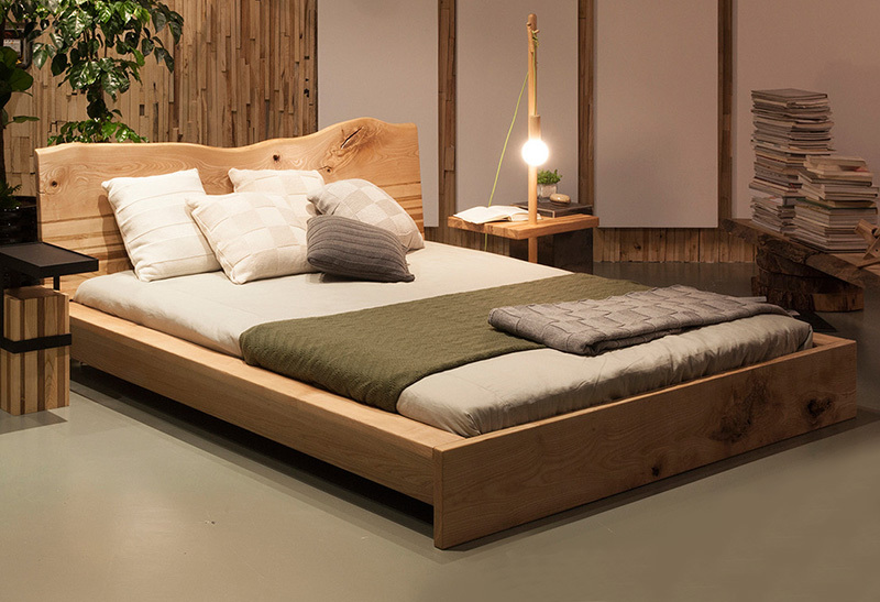 New choice new design wooden double bed in beds from for Double bed new design