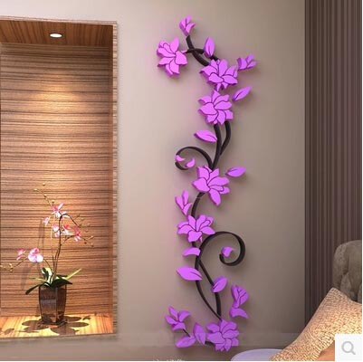 152 45cm single piece package 3d exquisite flowers wall for Room decor 3d embellishment art
