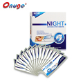 1 Box Onuge Advanced Dry Teeth Whitening Night Strips 20 Pouches Dry Whitening Strips Sleeping Use