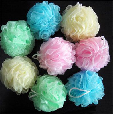 1 PC Soft Feeling Bathing Accessories Bath Ball Tubs Cool Scrubber Shower Body Cleaning Mesh Shower Wash Nylon Sponge Products