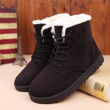 SZSGCN428 Kadın Botları Kış sıcak Kar Botları Kadın Faux Süet yarım çizmeler Kadın Kış Ayakkabı Botas Mujer Peluş Ayakkabı Kadın(China)