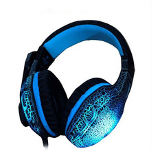 New NUBWO NO-3000 Leather Stereo Cool Flash LED Glow Gaming Headset Headphone Casque with Mic For Computer Gamer PS4 PS3 PC Mac