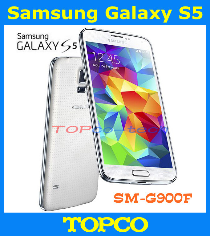 "Original Samsung Galaxy S5 Unlocked GSM 3G&4G Android Mobile Phone SM-G900F G900H Quad-core 5.1"" 16MP WIFI GPS 16GB Dropshipping(China (Mainland))"