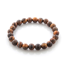 High Quality Tiger Eye Buddha Bracelets Natural Stone Lava Round Beads Elasticity Rope Men Women Bracelet Free Shipping