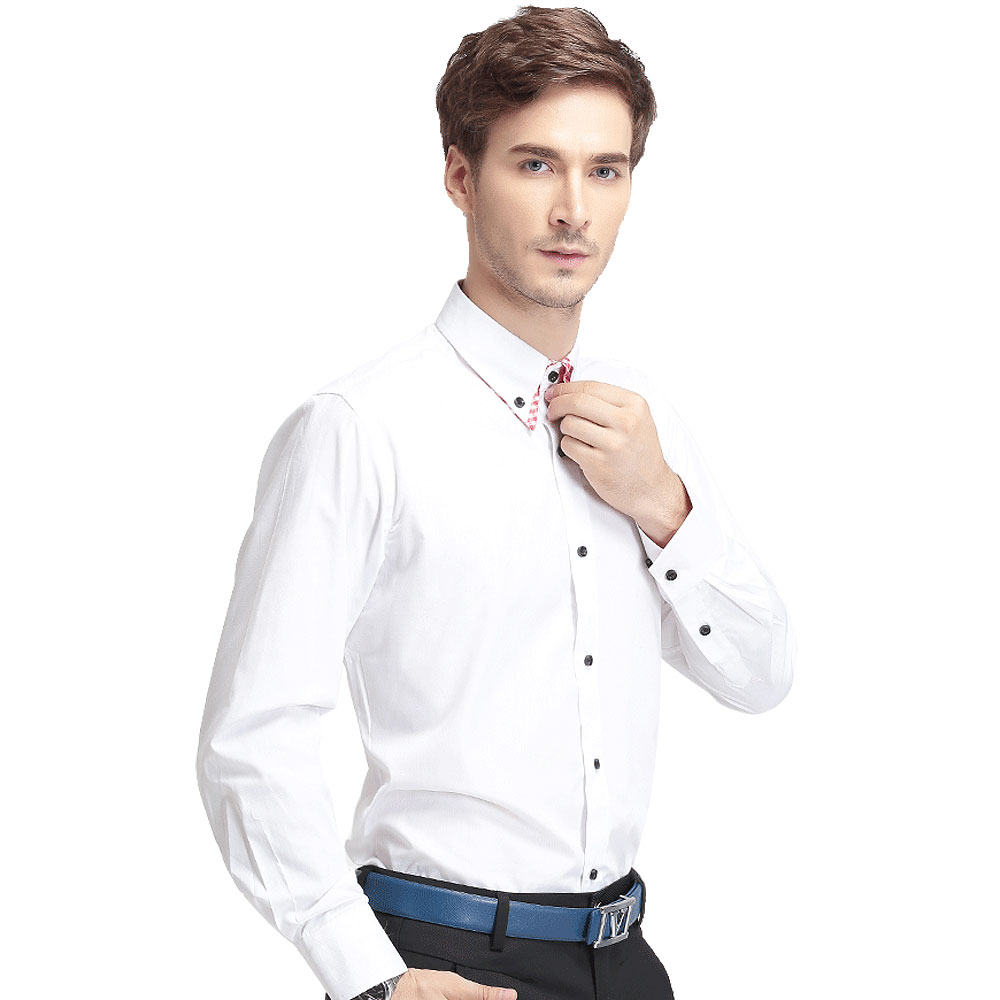 Buy factory price high quality white for Dress shirt collar fit