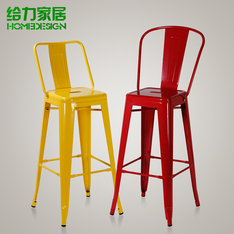 Continental simple bar chairs stool tall with backrest child<br><br>Aliexpress