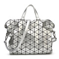 TONNEAU BOSTON Triangular Lattice women men Briefcase rhombus Splice fashion baobao girl or OL Ladies handbags