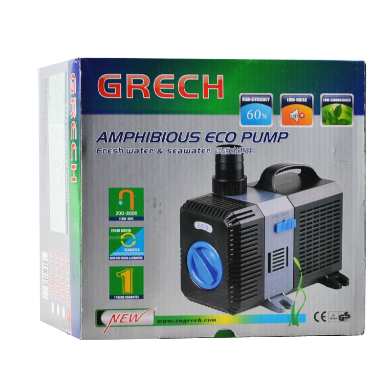 Sunsun grech submersible eco pond pump adjustable inline for Best rated pond pumps