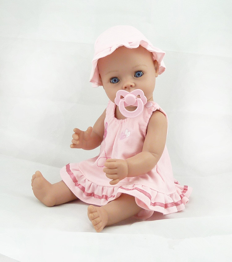 Фотография Silicone Reborn Baby Doll Toy Newborn Pink Princess Doll Girls Birthday Gift Plastic Vinyl Doll Early Education Bathe Shower Toy