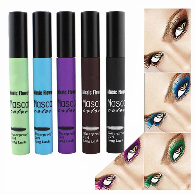 5Colors 1Pcs Makeup Lengthening Eyelash Mascara Waterproof Volume Full Express Curling Mascara Cosmetics Eye Lash Color Beauty(China (Mainland))