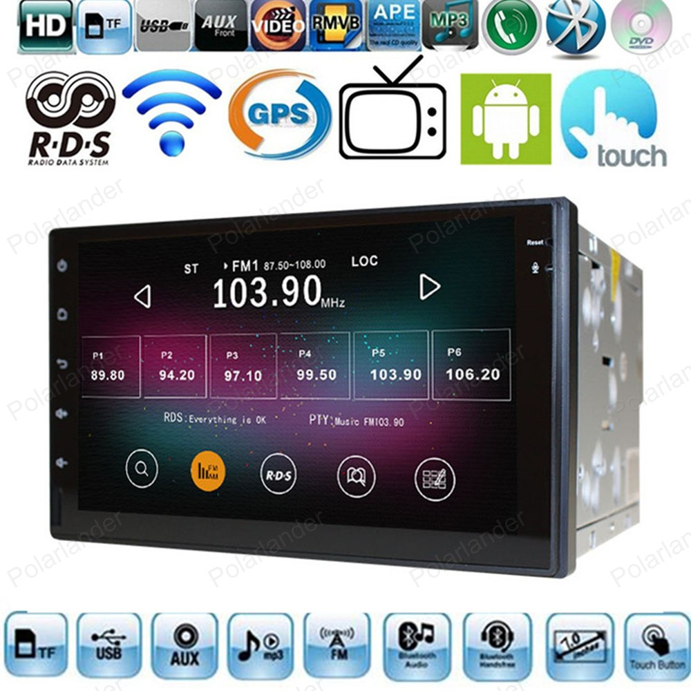 Universal 2 Din Car Player Radio GPS Navigation Bluetooth Support OBD DVR Glonass Multimedia Quad Core For Android 4.4(China (Mainland))